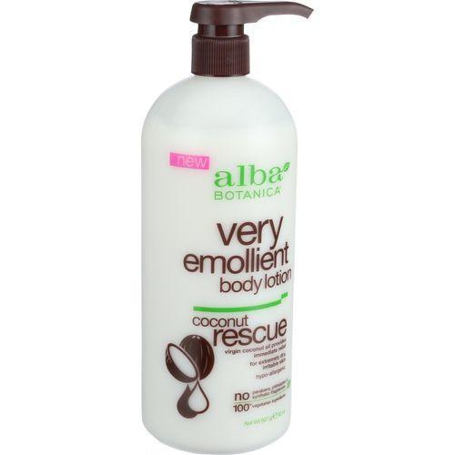 Alba Botanica Body Lotion - Very Emollient - Coconut Rescue - 32 oz