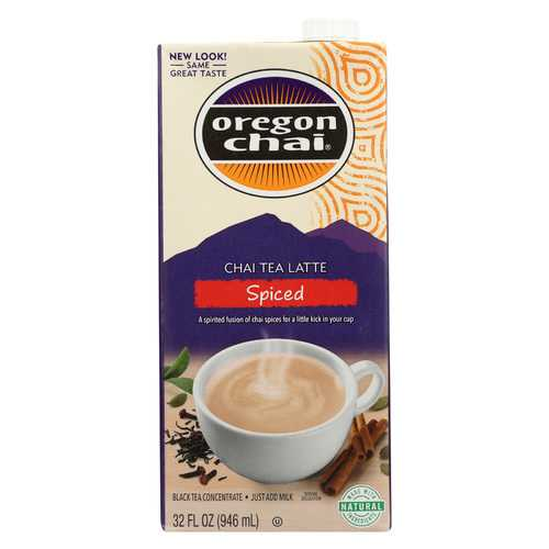 Oregon Chai Tea Latte Concentrate - Spiced - Case of 6 - 32 Fl oz.