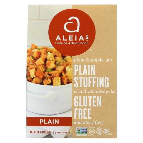 Aleia'S Gluten Free Stuffing Mix Plain - Case Of 6 - 10 Oz