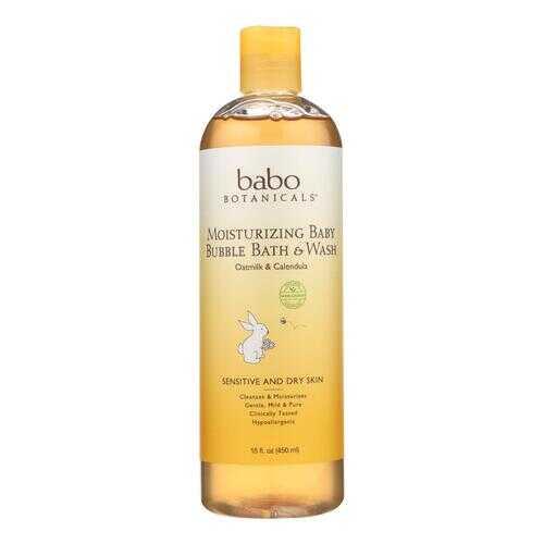 Babo Botanicals Baby Bubble Bath and Wash - Moisturizing - Oatmilk - 15 oz
