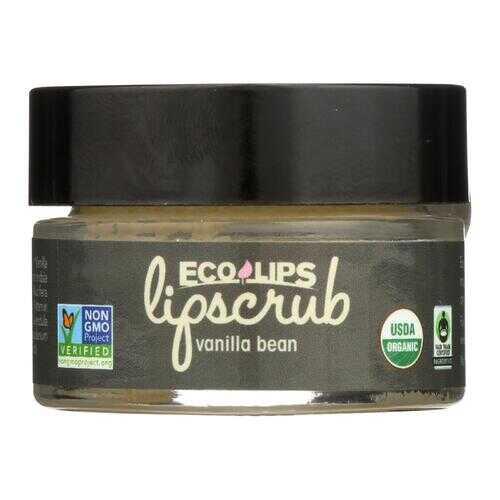 Ecolips Organic Lip Scrub - Vanilla Bean - Case of 6 - 0.5 oz.