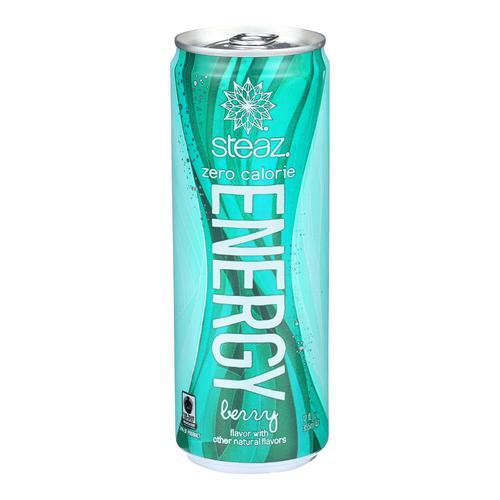 Steaz Zero Calorie Energy Drink - Berry - Case of 12 - 12 Fl oz.