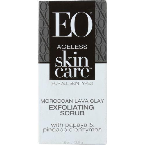 EO Products Exfoliating Scrub - Ageless - Moroccan Lava Clay - 1.5 oz - 1 each