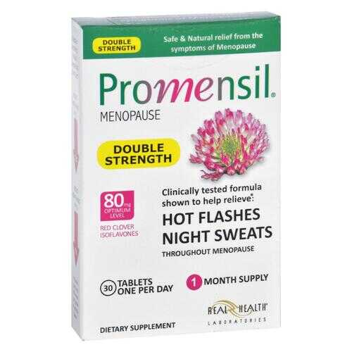 Promensil Menopause - Double Strength - Relief Hot Flashes Night Sweats - 30 Tablets