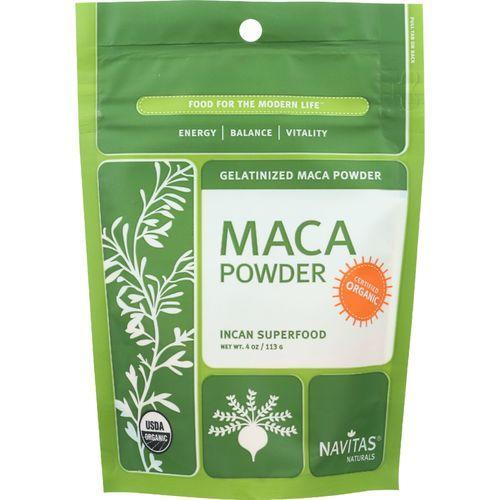Navitas Naturals Maca Powder - Organic - Gelatinized - 4 oz - case of 12