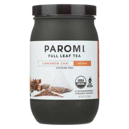 Paromi Tea - Tea Rooibos Cinnamon Chai Caffeine Free - Case of 6 - 15 BAG