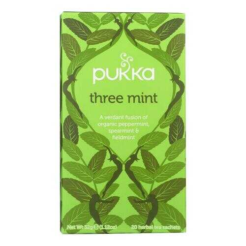 Pukka Herbal Teas Tea - Organic - Three Mint - 20 Bags - Case of 6