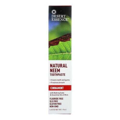 Desert Essence Toothpaste - Neem - Cinnamint - 6.25 oz - 1 each