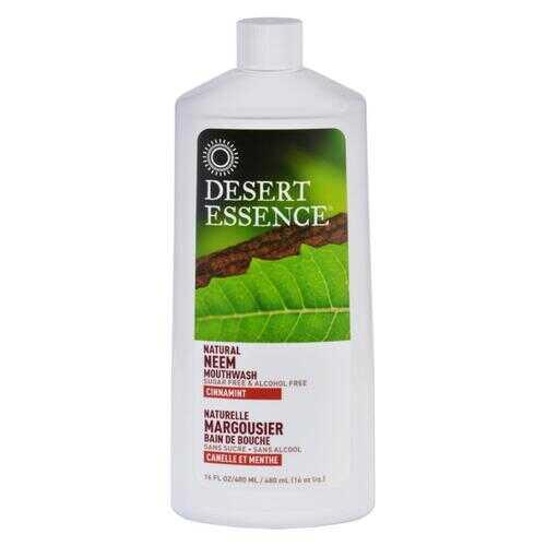Desert Essence Mouthwash - Natural Neem - Cinnamint - 16 oz