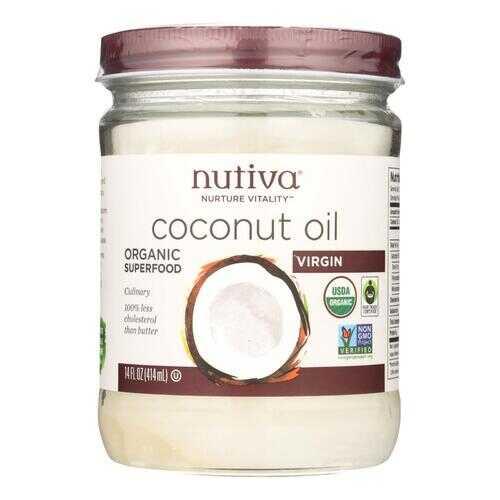 Nutiva Coconut Oil - Organic - Superfood - Virgin - Unrefined - 14 oz - Case of 6