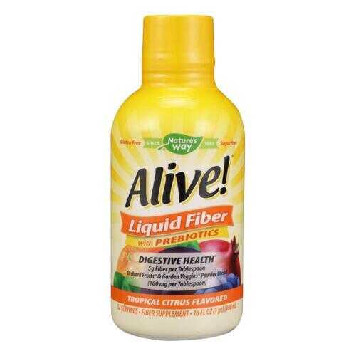 Nature's Way - Alive! Liquid Fiber with Probiotics - Tropical Citrus - 16 fl oz.