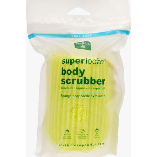 Earth Therapeutics Loofah - Super - Body Scrubber - Green - 1 Count