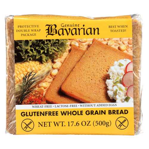 Genuine Bavarian Organic Bread - Whole Grain - Case of 6 - 17.6 oz.
