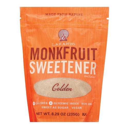 Lakanto Monkfruit Sweetener - Golden - Case of 8 - 8.29 oz.