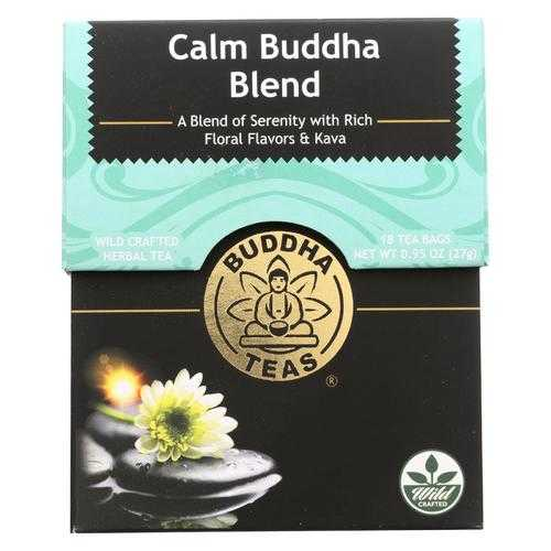 Buddha Teas -Tea - Calm Buddha Blend - Case of 6 - 18 Bag
