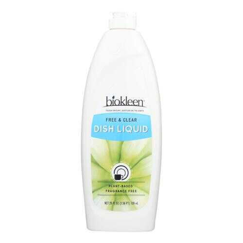 Biokleen Dish Liquid - Natural - Free and Clear - 25 oz - Case of 6