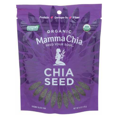 Mamma Chia Organic Black Seeds - Case of 8 - 6 oz.