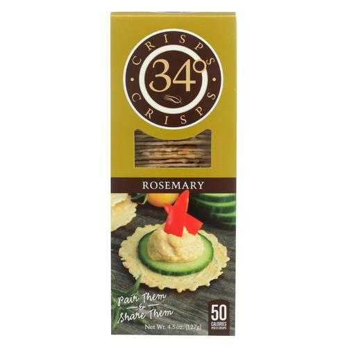 34 Degrees - Crispbread Rosemary - Case of 18-4.5 oz