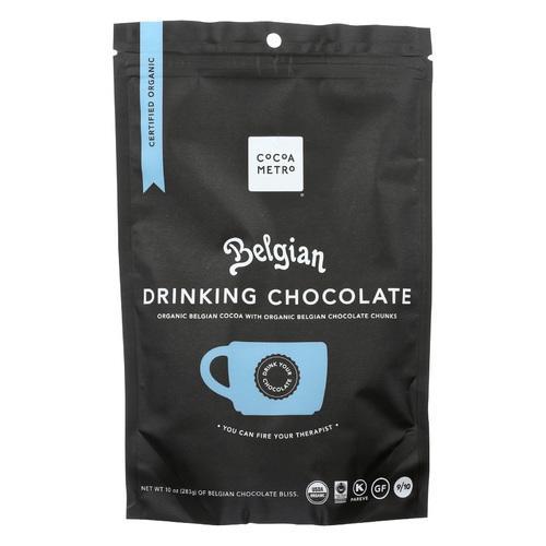 Cocoa Metro Belgian Drnkng Chocolate - Organic - Case of 6 - 10 oz
