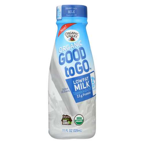 Organic Valley Organic Milk - Good To Go Low Fat 1% - Case of 12 - 11 fl oz