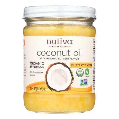 Nutiva Organic Coconut Oil - Buttery - Case of 6 - 14 oz.