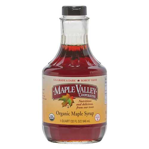 Maple Valley Cooperative Organic Maple Syrup - Grade B - Case of 6 - 32 fl oz