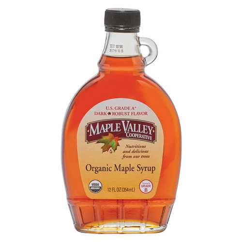 Maple Valley Cooperative Organic Maple Syrup - Grade B - Case of 12 - 12 fl oz