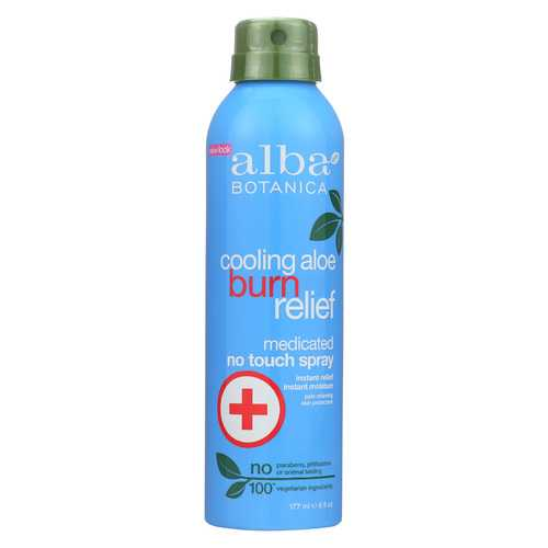 Alba Botanica Cooling Aloe Burn Relief - No Touch Spray - 6 oz.