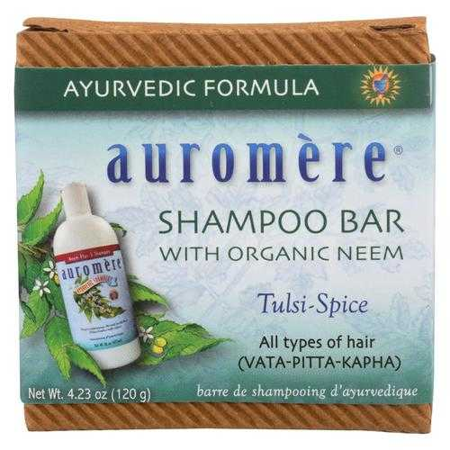 Auromere Shampoo - Tulsi-Spice Eco-Friendly, Non-Gmo, Vegan/Cruelty-Free - Case of 1 - 4.23 oz.