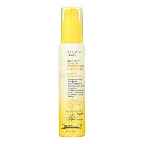 Giovanni Hair Care Products Conditioner - Pineapple and Ginger - Case of 1 - 4 fl oz.