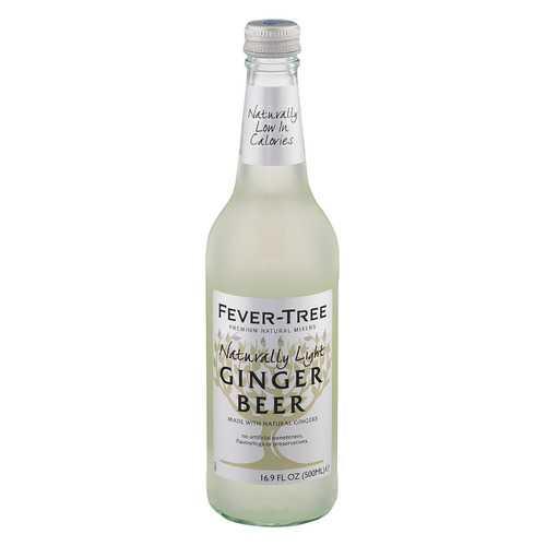 Fever - Tree Naturally Light Ginger Beer - Ginger Beer - Case of 8 - 16.9 FL oz.