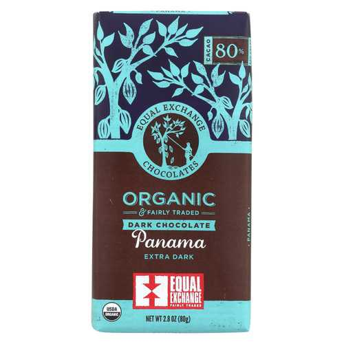 Equal Exchange Organic Dark Chocolate Bar - Panama Extra - Case of 12 - 2.8 oz.