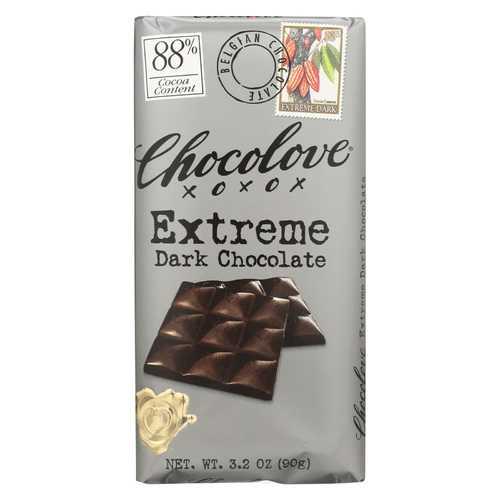 Chocolove Xoxox Dark Chocolate Bar - Extreme - Case of 12 - 3.2 oz