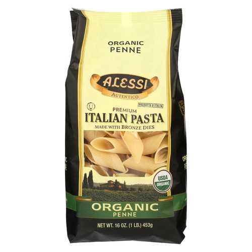 Alessi Italian Pasta - Organic Penne - Case of 12 - 16 oz.