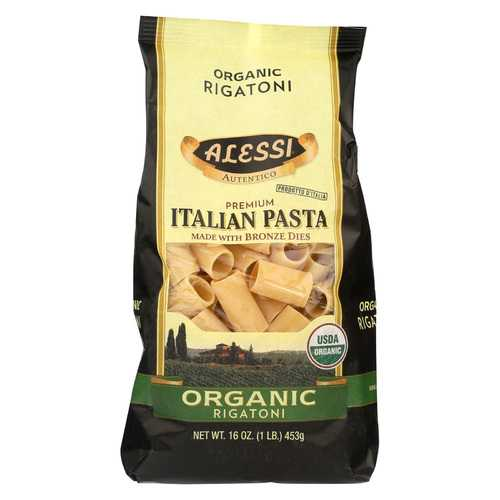 Alessi Pasta - Organic Rigatoni - Case of 12 - 16 oz.