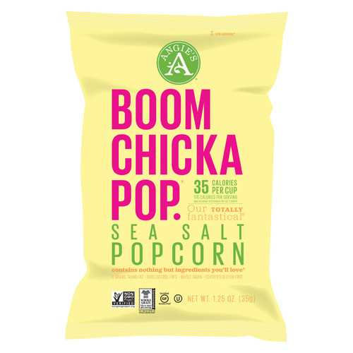 Angie's Kettle Corn Boom Chicka Pop Sea Salt Popcorn - Case of 12 - 1.25 oz.