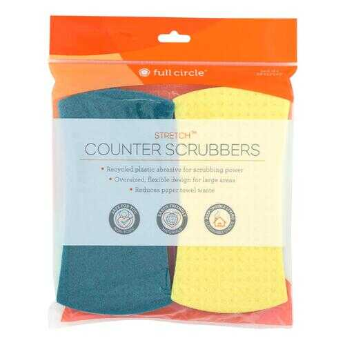 Full Circle Home - Stretch Counter Scrubbers - Case of 6 - 4 Count