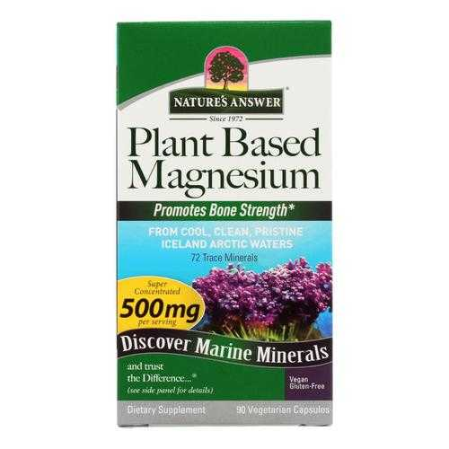 Nature's Answer Plant-Based Magnesium Dietary Supplement  - 1 Each - 90 CAP