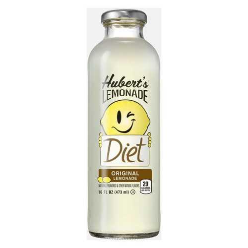 Hubert's Diet Lemonade - Original - Case of 12 - 16 fl oz
