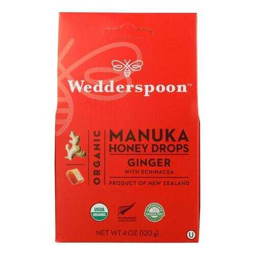 Wedderspoon Drops - Organic - Manuka - 15+ - Ginger - 4 oz