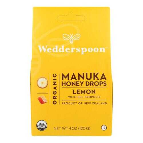 Wedderspoon Drops - Organic - Manuka - 15+ - Lemon - 4 oz