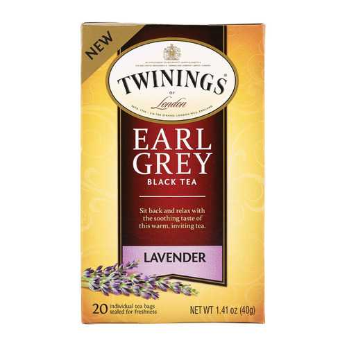 Twining's Tea Black Tea - Earl Grey Lavender - Case of 6 - 20 Count