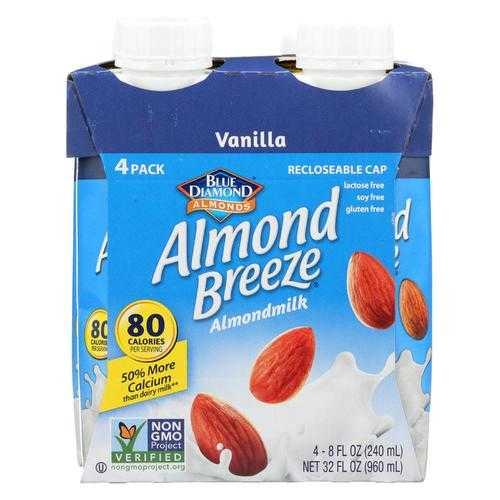 Almond Breeze Almond Milk Vanilla  - Case Of 6 - 4/8 Oz