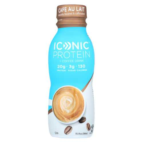 Iconic Protein Shake - Caf? Au Lait - Case of 12 - 11.5 Fl oz.