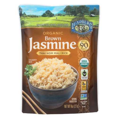 Lundberg Family Farms Organic Thai Rice - Brown Jasmine - Case of 6 - 8 oz