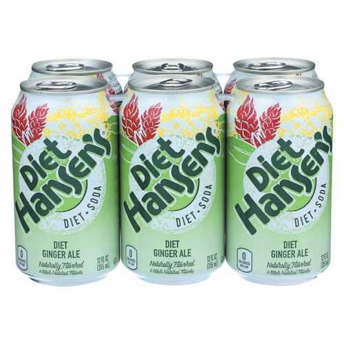 Hansen's Beverages Diet Soda - Ginger Ale - Case of 4 - 6/12 fl oz