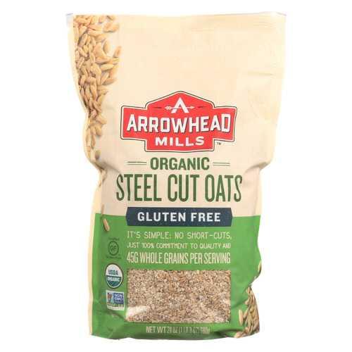 Arrowhead Mills Oats - Steel Cut - Gluten Free - Case of 6 - 24 oz