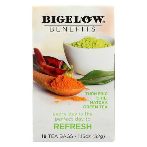 Bigelow Tea Tea - Matcha Green - Refresh - Case of 6 - 18 BAG