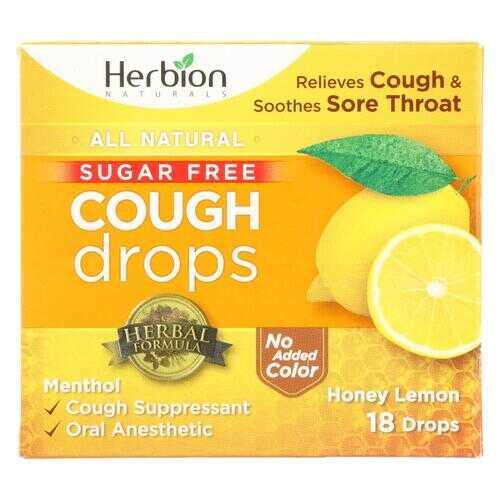 Herbion Naturals Honey Lemon Cough Drops  - 1 Each - 18 CT