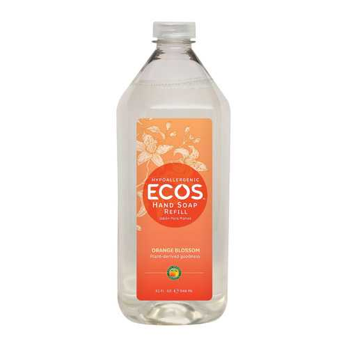 Earth Friendly Hand Soap - Ecos - Orange Blossom- Refill - Case of 6 - 32 fl oz